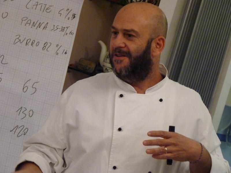 Gabriele Spinelli, pasticcere e docente di Otto in cucina